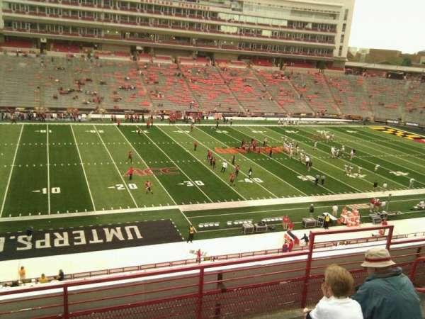 Maryland Stadium, secção: 203, fila: e, lugar: 18