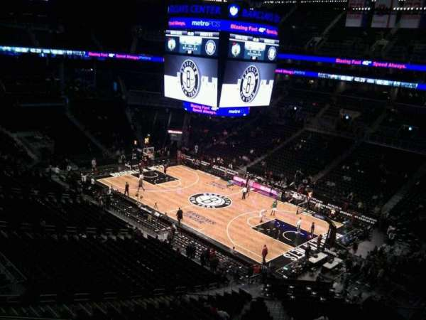 Barclays Center, secção: 220, fila: 4, lugar: 17