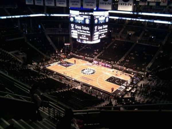 Barclays Center, secção: 221, fila: 17, lugar: 1