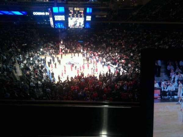 Madison Square Garden, secção: 203, fila: 1, lugar: 4