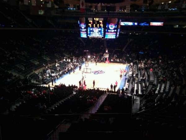 Madison Square Garden, secção: 205, fila: 2, lugar: 1