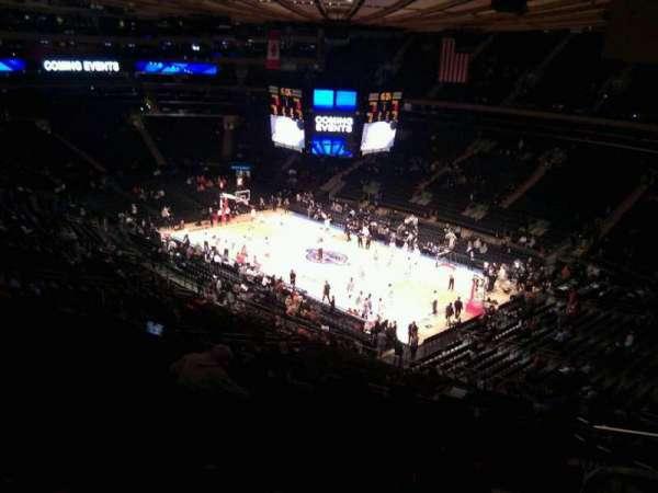 Madison Square Garden, secção: 214, fila: 14, lugar: 23