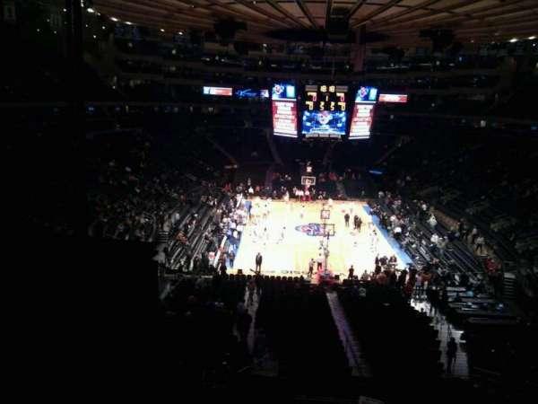 Madison Square Garden, secção: 217, fila: 5, lugar: 27
