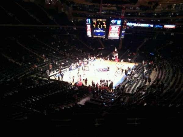 Madison Square Garden, secção: 219, fila: 5, lugar: 10
