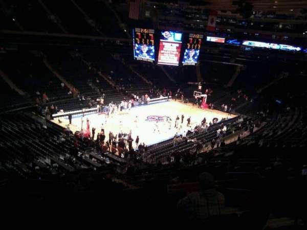 Madison Square Garden, secção: 220, fila: 7, lugar: 21