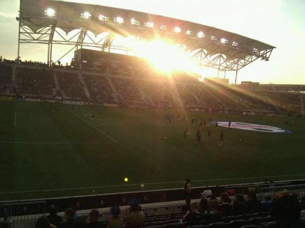 Talen Energy Stadium, secção: 131, fila: q, lugar: 20