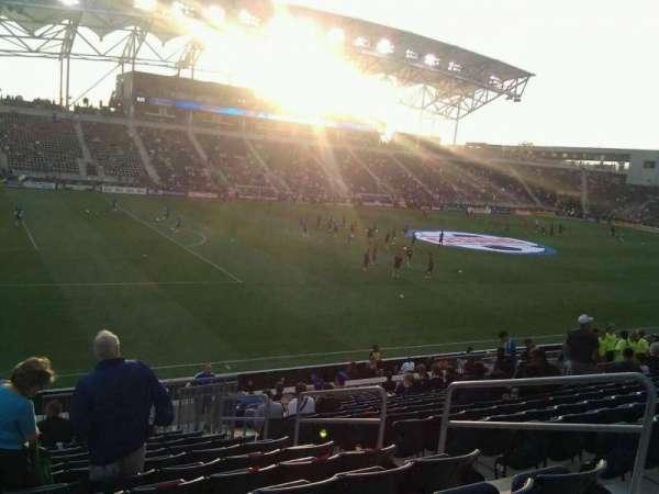 Talen Energy Stadium, secção: 132, fila: w, lugar: 6