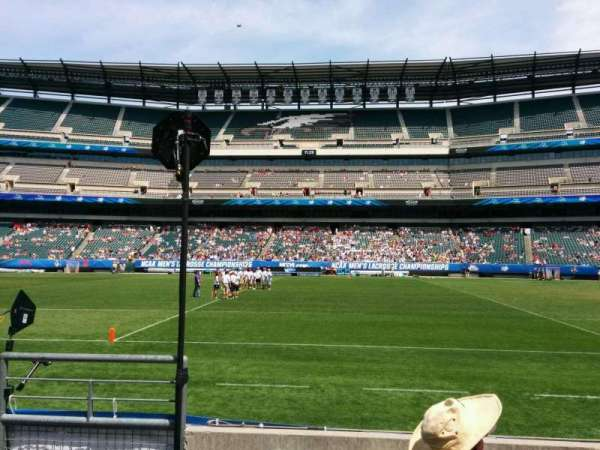 Lincoln Financial Field, secção: 102, fila: 4, lugar: 23