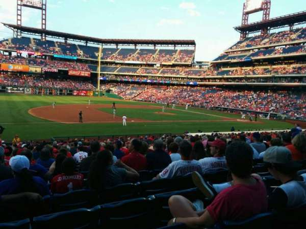Citizens Bank Park, secção: 133, fila: 29, lugar: 13