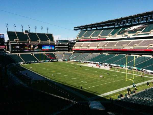 Lincoln Financial Field, secção: SW Terrace 1, fila: 3, lugar: 38