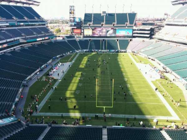 Lincoln Financial Field, secção: 212, fila: 5, lugar: 9