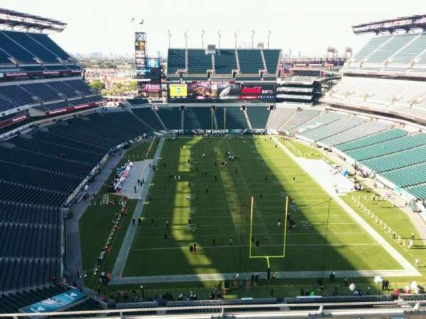 Lincoln Financial Field, secção: 211, fila: 9, lugar: 15