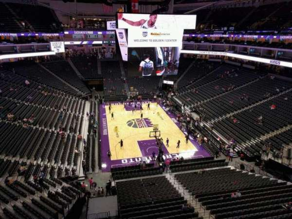Golden 1 Center, secção: 212, fila: a, lugar: 16