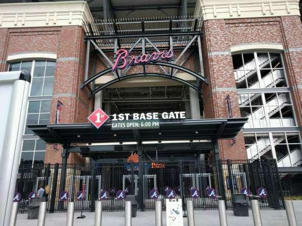 Truist Park, secção: 1st Base Gate