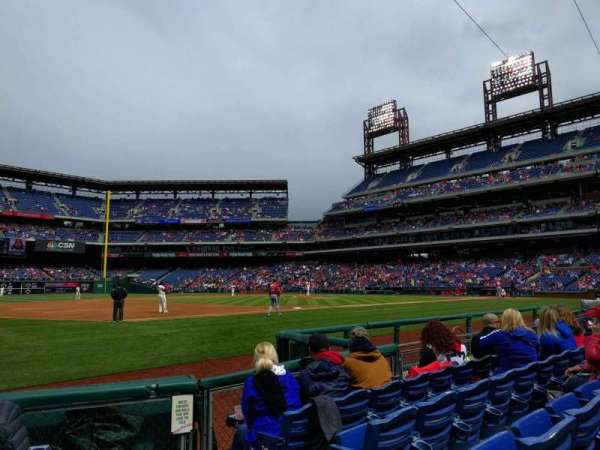 Citizens Bank Park, secção: 134, fila: 5, lugar: 1