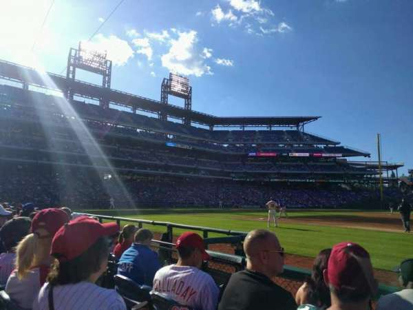 Citizens Bank Park, secção: 114, fila: 4, lugar: 4