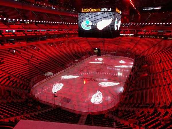 Little Caesars Arena, secção: m1, fila: 1, lugar: 11