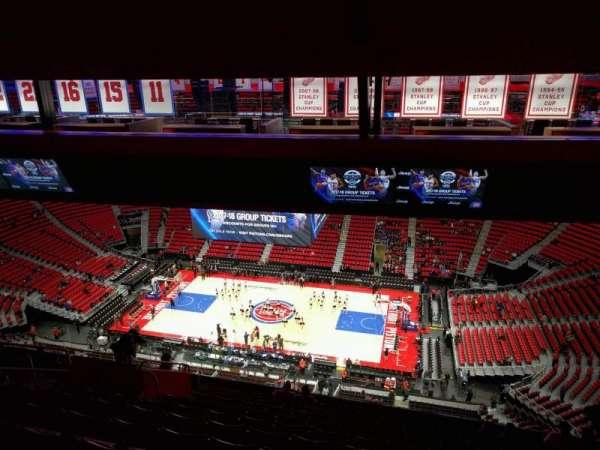 Little Caesars Arena, secção: 225, fila: 12, lugar: 10