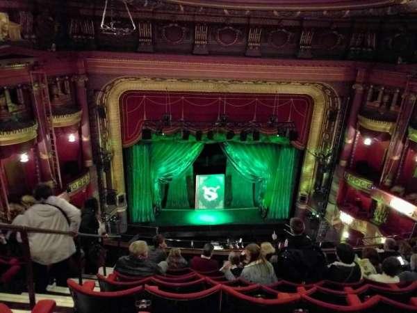 Palace Theatre (Manchester), secção: grand tier, fila: j, lugar: 32
