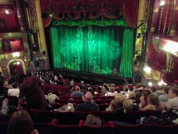 Palace Theatre (Manchester), secção: circle, fila: k, lugar: 9