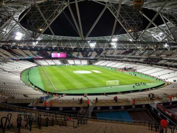 London Stadium, secção: 246, fila: 55, lugar: 108