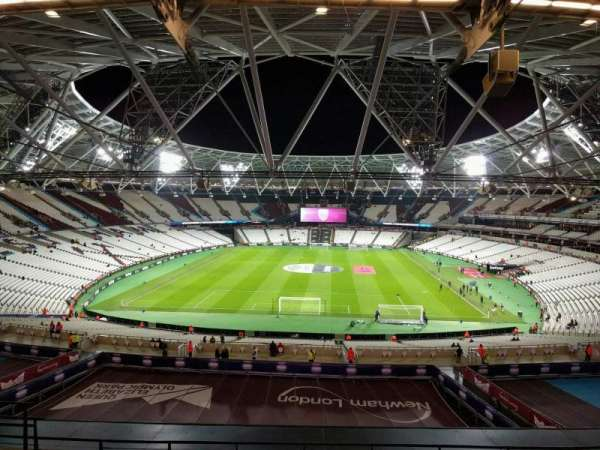 London Stadium, secção: 251, fila: 57, lugar: 852