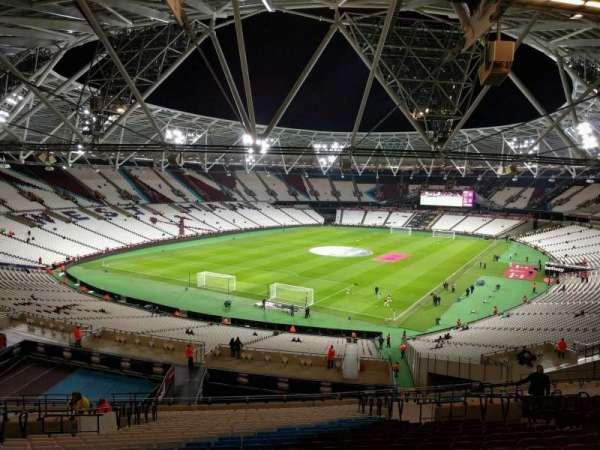 London Stadium, secção: 254, fila: 57, lugar: 727