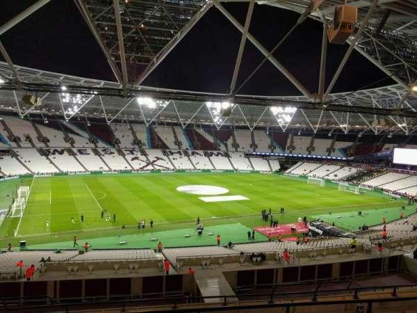 London Stadium, secção: 205, fila: 53, lugar: 539