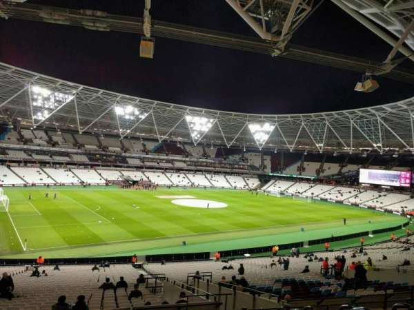London Stadium, secção: 231, fila: 40, lugar: 574