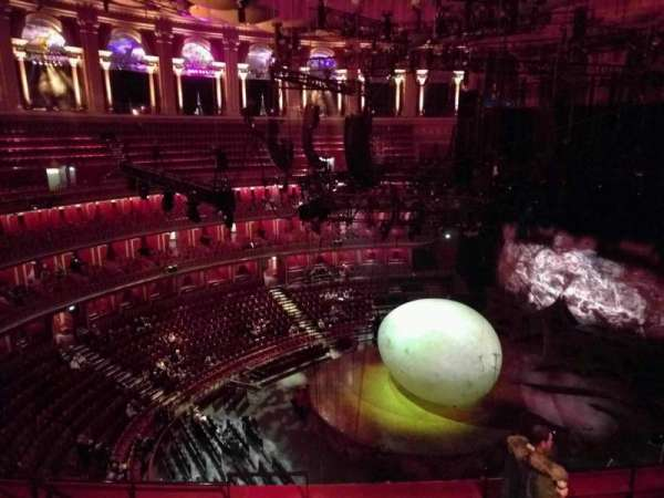 Royal Albert Hall, secção: Circle V, fila: 6, lugar: 174