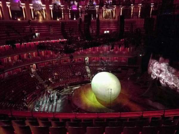 Royal Albert Hall, secção: Circle W, fila: 7, lugar: 229