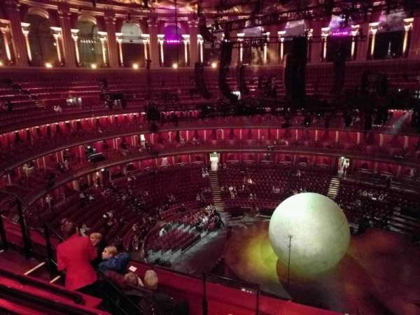 Royal Albert Hall, secção: Circle X, fila: 5, lugar: 219