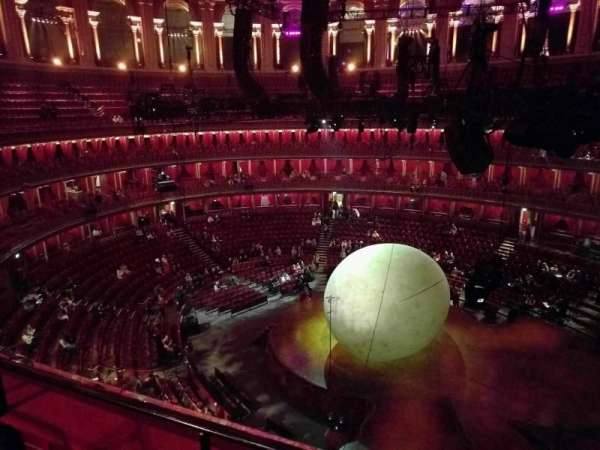 Royal Albert Hall, secção: Circle Y, fila: 2, lugar: 118