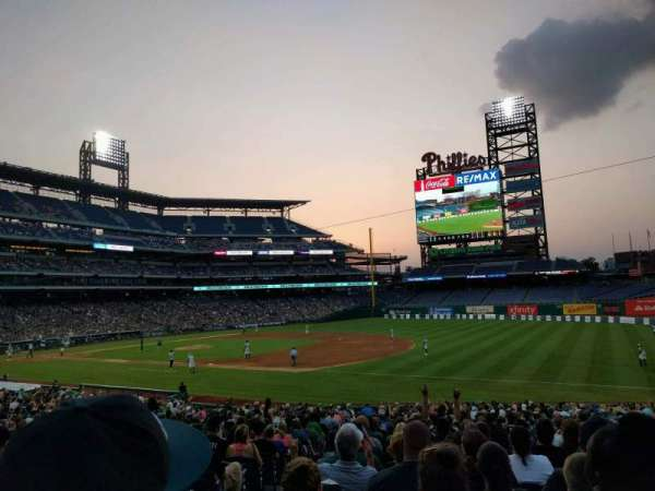 Citizens Bank Park, secção: 112, fila: 31, lugar: 17
