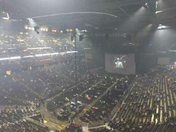 Nationwide Arena, secção: 208, fila: e, lugar: 7