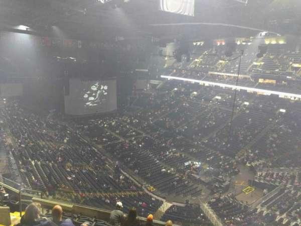 Nationwide Arena, secção: 213, fila: h, lugar: 8