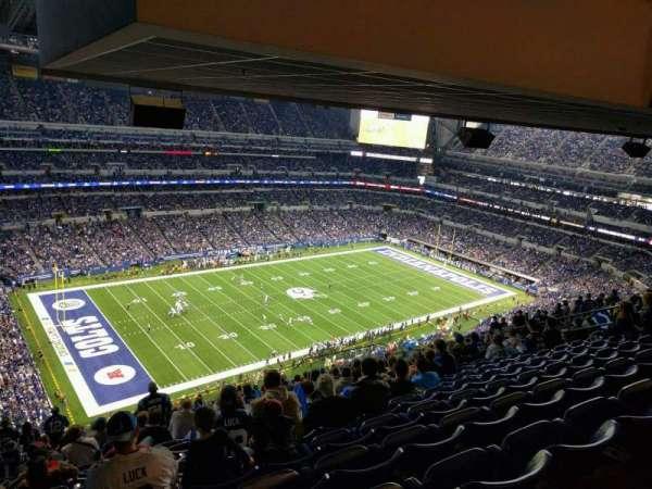 Lucas Oil Stadium, secção: 645, fila: 19, lugar: 20