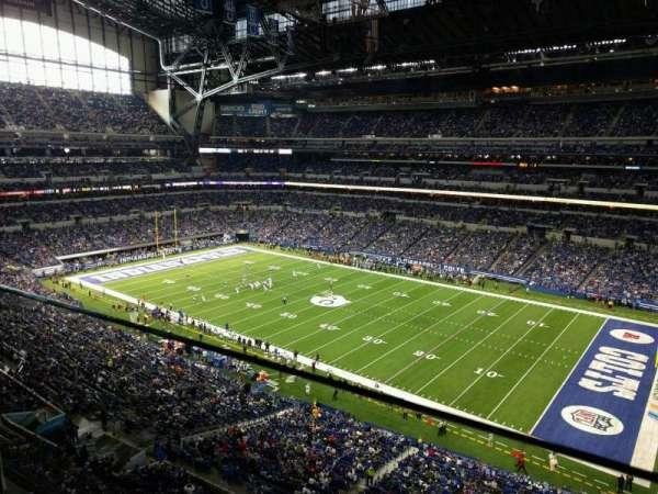 Lucas Oil Stadium, secção: 508, fila: 1, lugar: 26