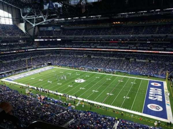Lucas Oil Stadium, secção: 509, fila: 5w, lugar: 8