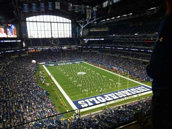 Lucas Oil Stadium, secção: 529, fila: 2, lugar: 22