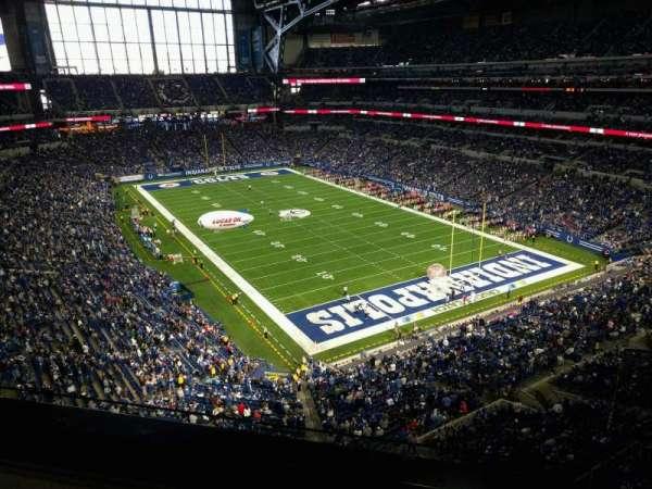 Lucas Oil Stadium, secção: 531, fila: 2, lugar: 1