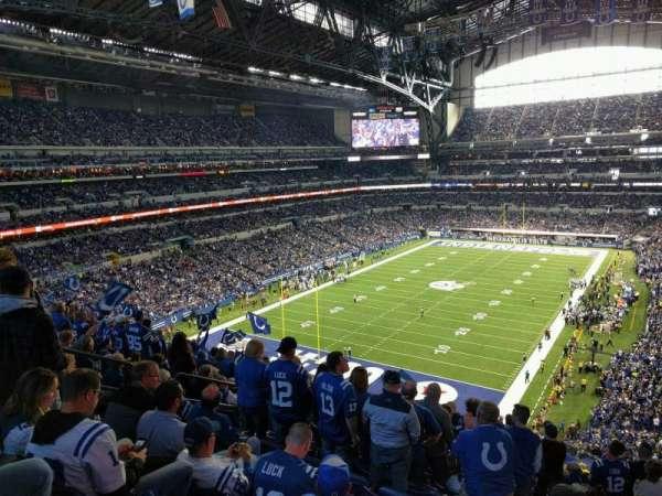 Lucas Oil Stadium, secção: 450, fila: 16, lugar: 6