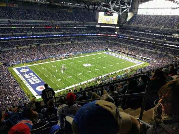 Lucas Oil Stadium, secção: 646, fila: 15, lugar: 3