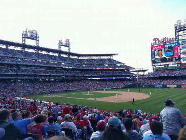Citizens Bank Park, secção: 112, fila: 34, lugar: 17