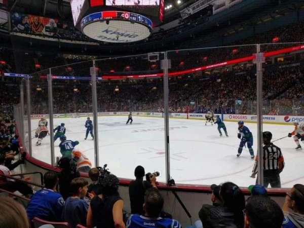 Rogers Arena, secção: 103, fila: 5, lugar: 6