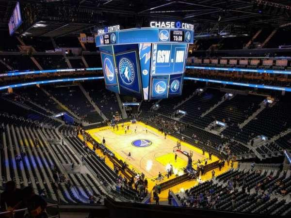 Chase Center, secção: 201, fila: 8, lugar: 3