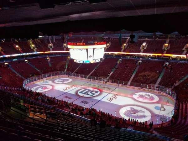 Rogers Arena, secção: 320, fila: 15, lugar: 109