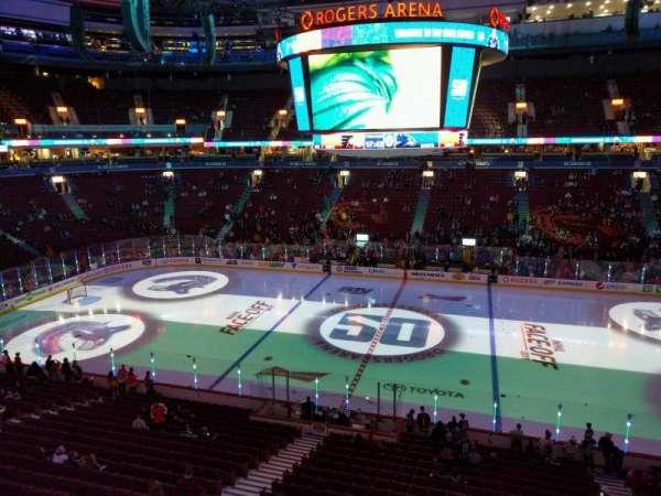 Rogers Arena, secção: 307, fila: 1, lugar: 110