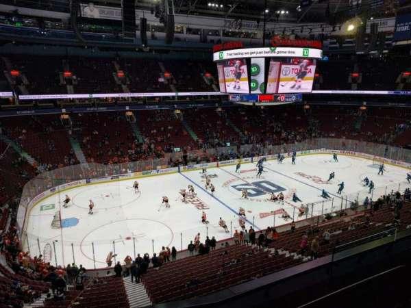 Rogers Arena, secção: 310, fila: 4, lugar: 107