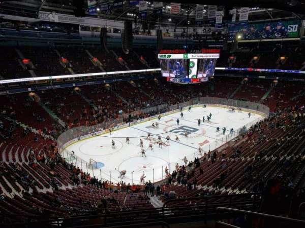 Rogers Arena, secção: 312, fila: 11, lugar: 104